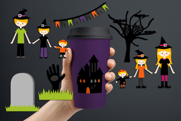 Print on Demand: Family Halloween Graphic Illustrations By Revidevi