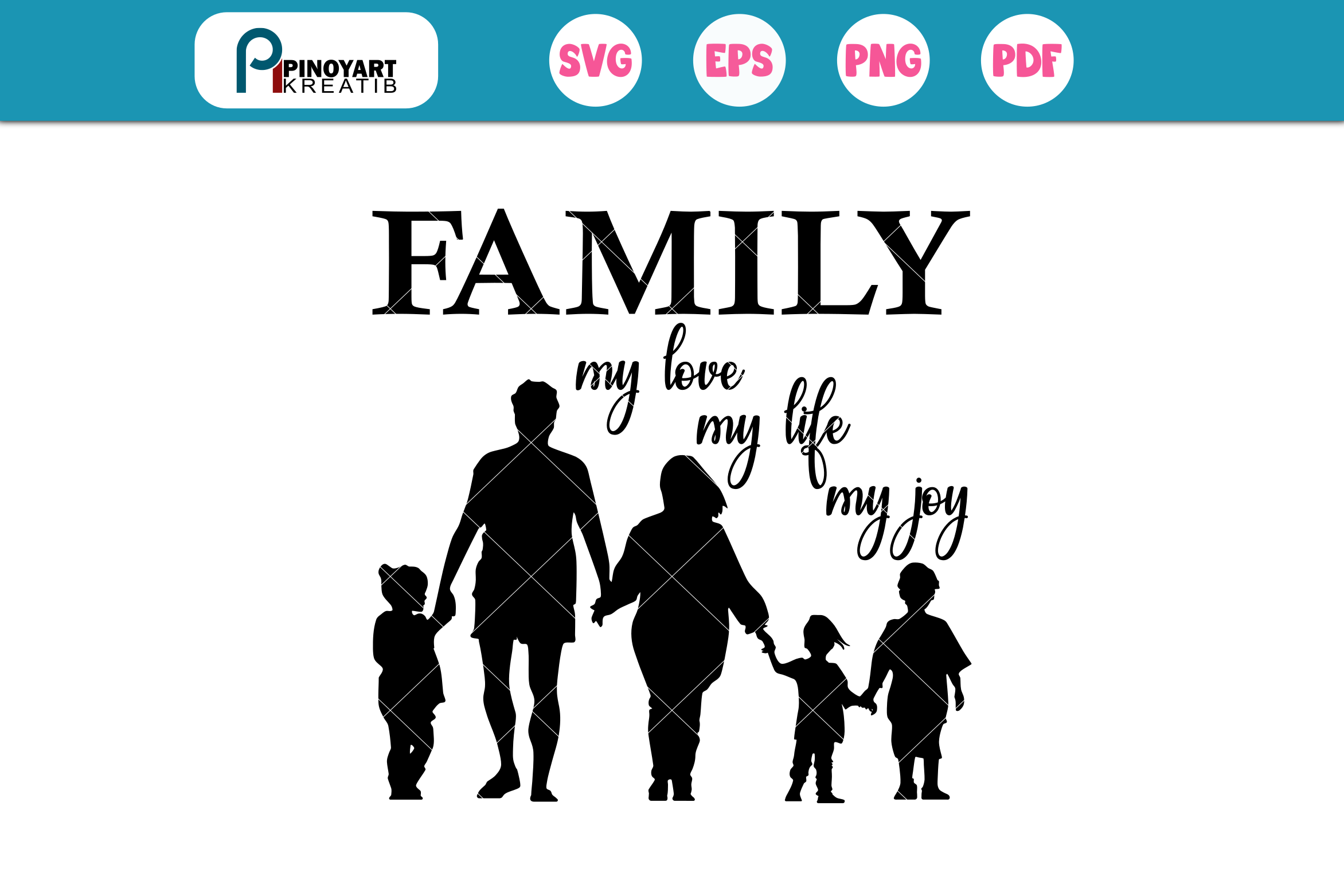 Download Free Family Graphic By Pinoyartkreatib Creative Fabrica for Cricut Explore, Silhouette and other cutting machines.