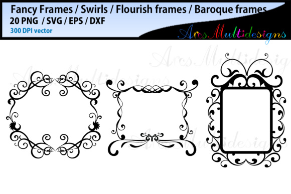 Download Free Fancy Frames Bundle Graphic By Arcs Multidesigns Creative Fabrica SVG Cut Files