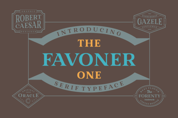 Favoner One Serif Font By Situjuh