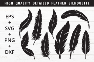 Print on Demand: Feather Silhouette Pack Graphic Crafts By great19