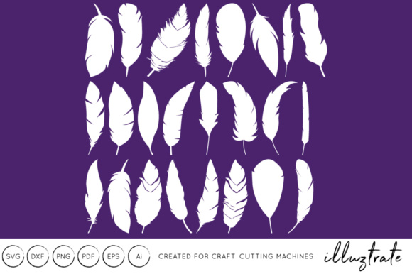 Print on Demand: Feathers Gráfico Crafts Por illuztrate