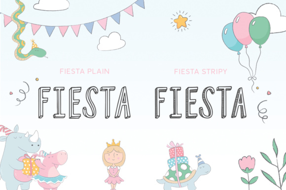 Print on Demand: Fiesta Duo Display Font By Salt & Pepper Designs - Image 2