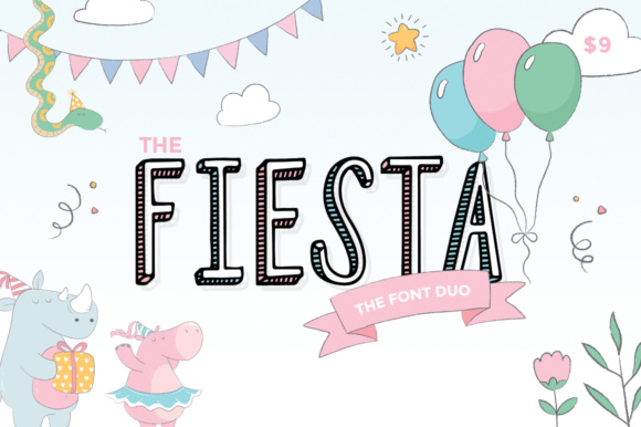Print on Demand: Fiesta Duo Display Font By Salt & Pepper Designs