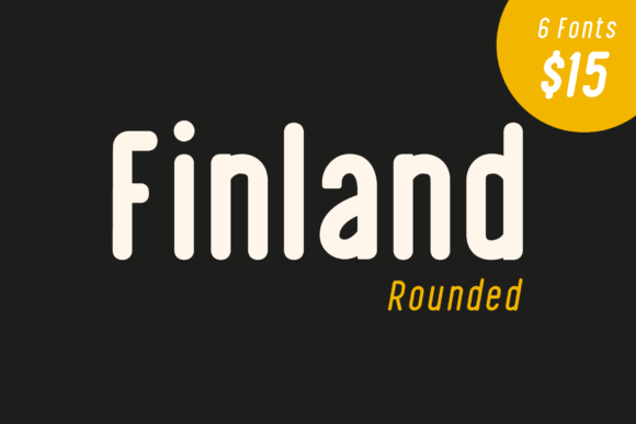 Finland Rounded Sans Serif Font By craftsupplyco