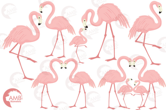 Flamingos Clipart Graphic Illustrations By AMBillustrations - Image 4