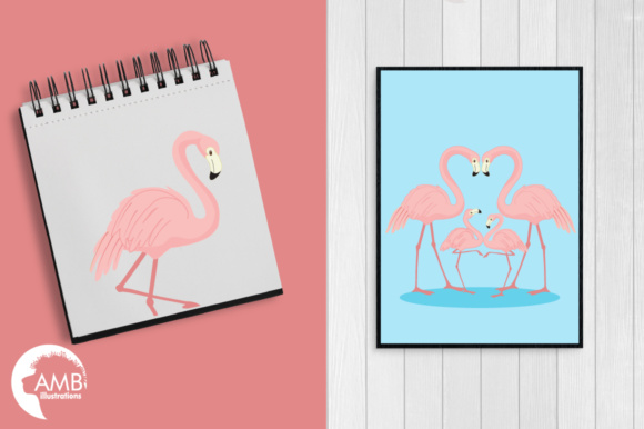 Flamingos Clipart Graphic Illustrations By AMBillustrations - Image 5