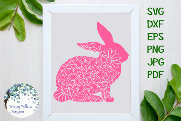 Download Free Floral Animal Mandala Bundle Rabbit Grafico Por for Cricut Explore, Silhouette and other cutting machines.