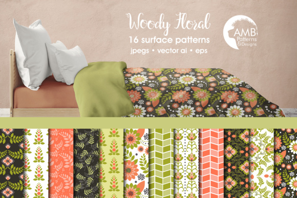 Floral Digital Papers Graphic Patterns By AMBillustrations