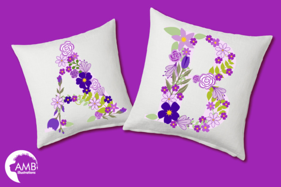 Floral Letters Purple Graphic Illustrations By AMBillustrations - Image 3