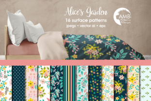 Floral Papers AMB Graphic Patterns By AMBillustrations