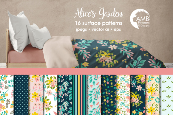 Floral Papers AMB Graphic Patterns By AMBillustrations - Image 1
