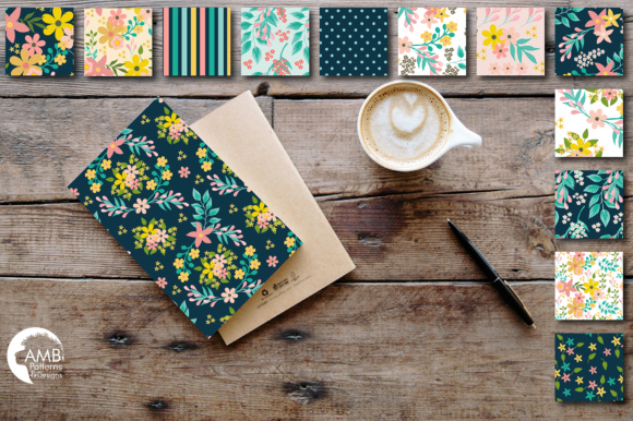 Floral Papers AMB Graphic Patterns By AMBillustrations - Image 2