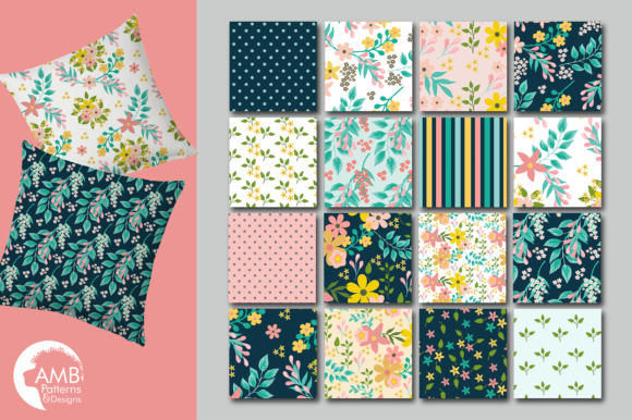 Floral Papers AMB Graphic Patterns By AMBillustrations - Image 3