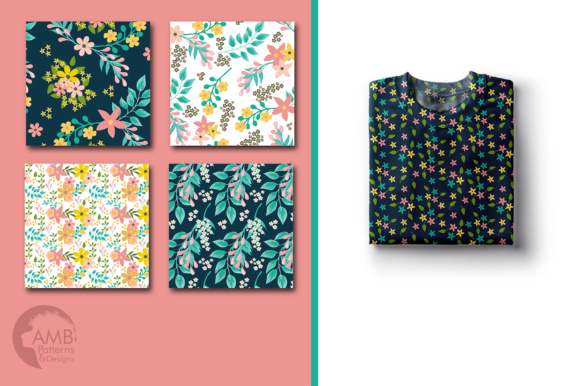Floral Papers AMB Graphic Patterns By AMBillustrations - Image 4