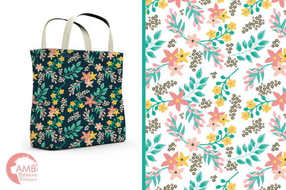 Floral Papers AMB Graphic Patterns By AMBillustrations - Image 5