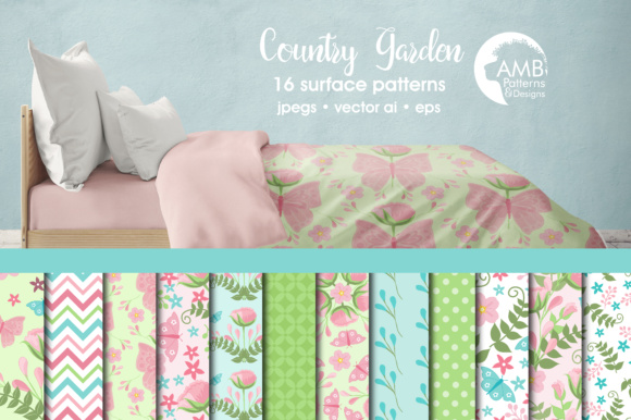 Floral Papers Graphic Patterns By AMBillustrations - Image 1
