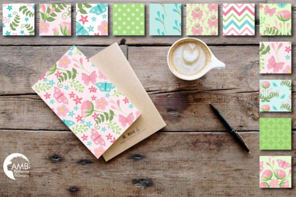 Floral Papers Graphic Patterns By AMBillustrations - Image 2