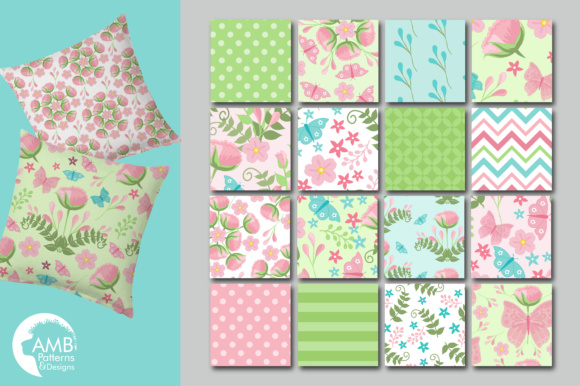Floral Papers Graphic Patterns By AMBillustrations - Image 3