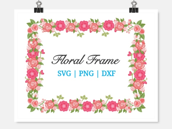 Floral Frame Graphic Crafts By widyaav