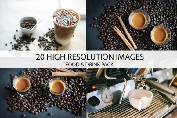 Print on Demand: Food & Drink Stockphoto Pack Graphic Food & Drinks By vito12