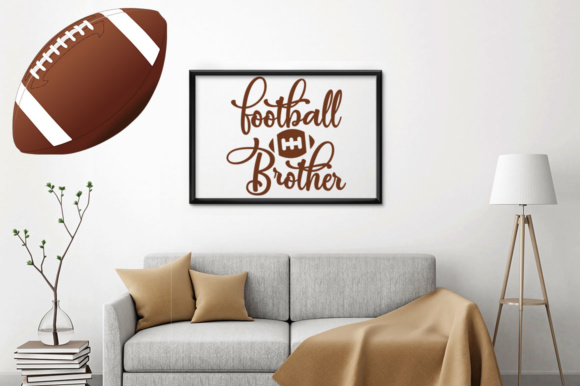 Download Free Football Brother Graphic By Designfarm Creative Fabrica for Cricut Explore, Silhouette and other cutting machines.