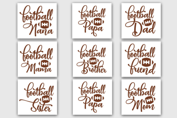 Download Free Football Family Bundle Graphic By Designfarm Creative Fabrica for Cricut Explore, Silhouette and other cutting machines.