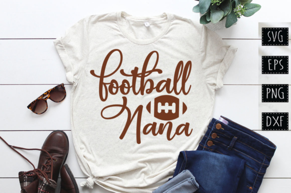 Download Free Football Nana Graphic By Designfarm Creative Fabrica for Cricut Explore, Silhouette and other cutting machines.