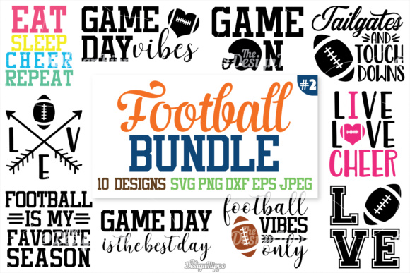 Download Free Football Bundle Graphic By Thedesignhippo Creative Fabrica for Cricut Explore, Silhouette and other cutting machines.