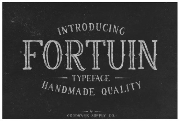Print on Demand: Fortuin Display Font By Goodware.Std