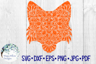 Download Free Fox Face Floral Mandala Graphic By Wispywillowdesigns Creative for Cricut Explore, Silhouette and other cutting machines.