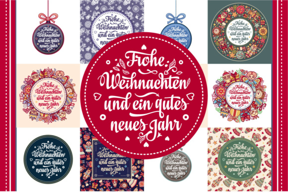 Download Free Frohe Weihnachten Neues Jahr Bundle Graphic By Zoyali for Cricut Explore, Silhouette and other cutting machines.
