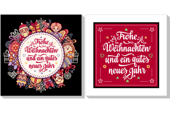 Download Free Frohe Weihnachten Neues Jahr Graphic By Zoyali Creative Fabrica for Cricut Explore, Silhouette and other cutting machines.