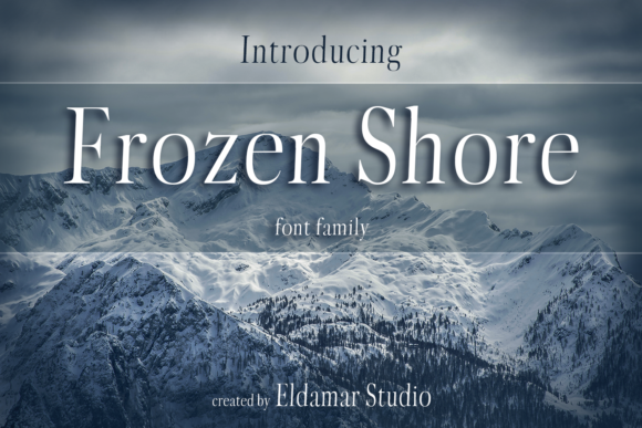 Print on Demand: Frozen Shore Serif Font By Eldamar Studio Fonts