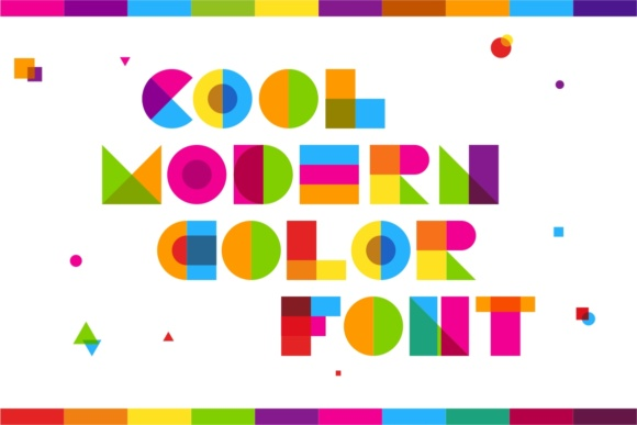 Print on Demand: Garis Lengkung Color Fonts Font By putracetol - Image 2