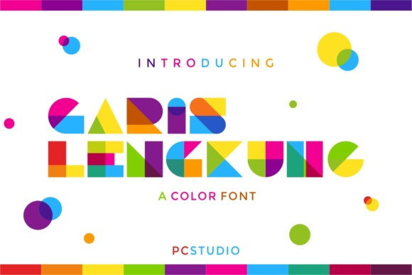 Garis Lengkung Color Fonts Font By putracetol