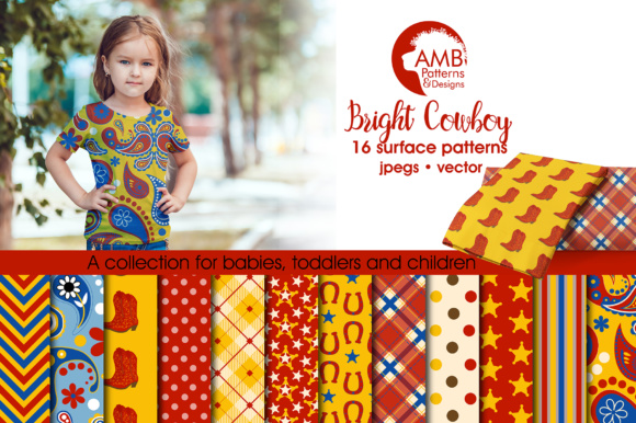 General Cowboy Pattern AMB Graphic Patterns By AMBillustrations