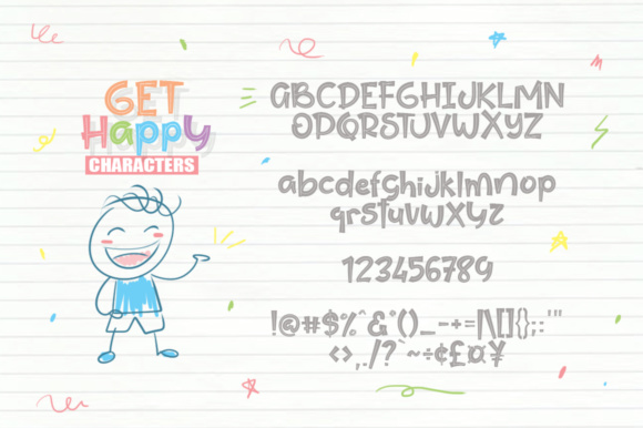Print on Demand: Get Happy Display Font By Khurasan - Image 5