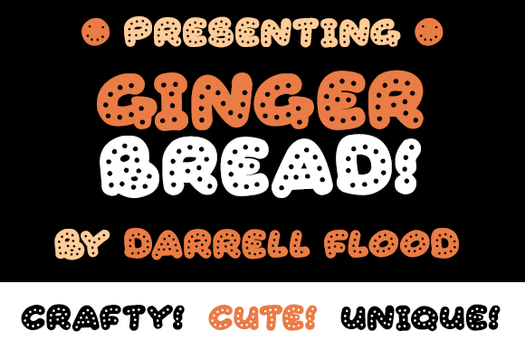 Gingerbread Display Font By Dadiomouse