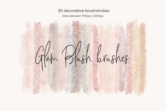 Glam Blush Brushes Graphic Web Elements By Creative Stash