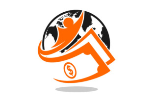 Download Free Globe Cash Vector Logo Graphic By Hartgraphic Creative Fabrica for Cricut Explore, Silhouette and other cutting machines.