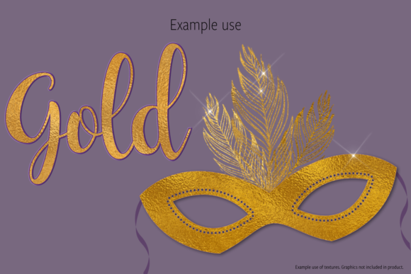 Print on Demand: Gold Foils Graphic Textures By JulieCampbellDesigns - Image 3