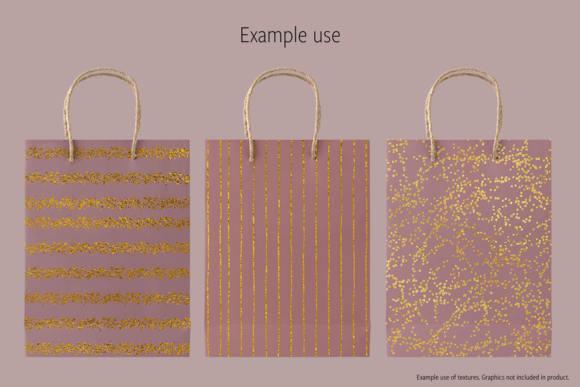Print on Demand: Gold Foils Graphic Textures By JulieCampbellDesigns - Image 4