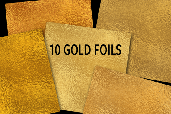 Print on Demand: Gold Foils Graphic Textures By JulieCampbellDesigns