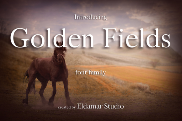Print on Demand: Golden Fields Serif Font By Eldamar Studio Fonts