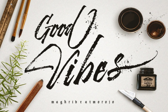 Download Free Good Vibes Fuente Por Maghrib Creative Fabrica for Cricut Explore, Silhouette and other cutting machines.