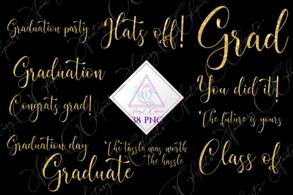 Print on Demand: Graduation Word Art Clipart Graphic Illustrations By fantasycliparts