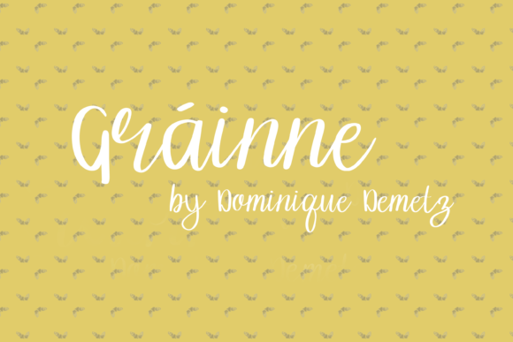 Print on Demand: Gráinne Script & Handwritten Font By Dominique Demetz