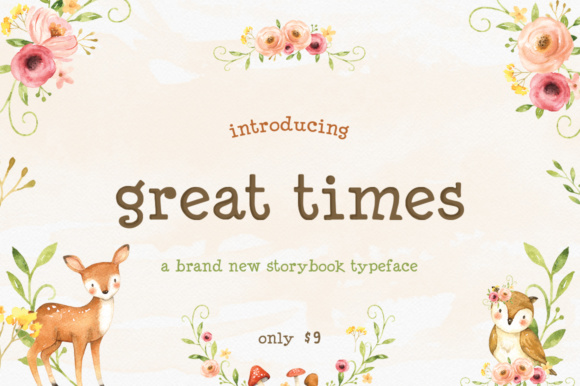 Print on Demand: Great Times Serif Font By Salt & Pepper Designs
