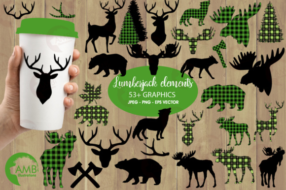 Green Lumberjack Clipart Graphic Illustrations By AMBillustrations